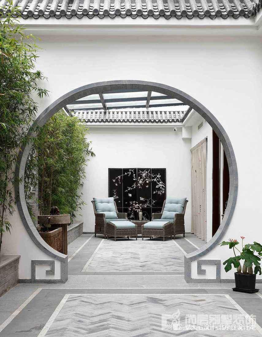 精美面积121平别墅花园中式实景图片大全中式现代设计图片赏析