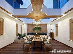 精选面积121平别墅餐厅中式实景图片欣赏别墅豪宅中式现代家装装修案例效果图