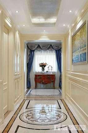 热门125平米中式别墅玄关装饰图片欣赏别墅豪宅中式现代家装装修案例效果图