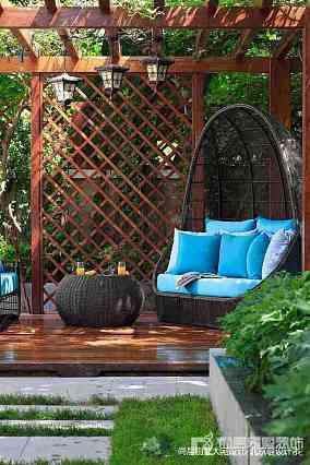 2018面积115平别墅花园中式装修图片别墅豪宅中式现代家装装修案例效果图