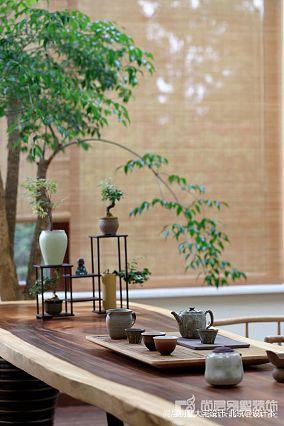 精美128平米中式别墅餐厅装修实景图片别墅豪宅中式现代家装装修案例效果图