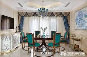 2018别墅餐厅中式装饰图片欣赏别墅豪宅中式现代家装装修案例效果图