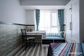 明亮123平中式三居卧室装修案例客厅中式现代设计图片赏析