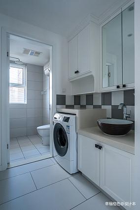 平中式三居卫生间图片大全卫生间中式现代设计图片赏析