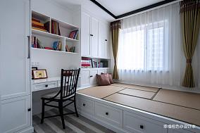 温馨91平中式三居卧室图片大全卧室中式现代设计图片赏析