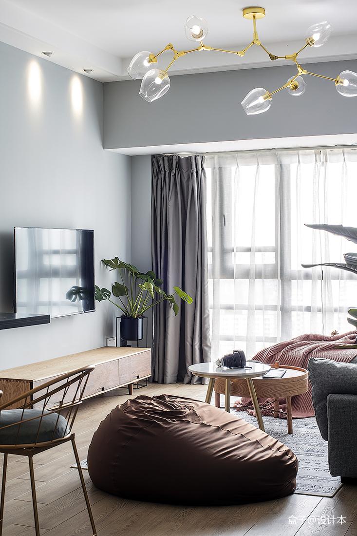 平米三居客厅北欧装修效果图客厅1图