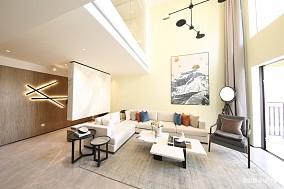 优美230平简约样板间客厅装饰美图