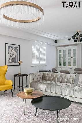 平米四居客厅美式装修设计效果图片四居及以上美式经典家装装修案例效果图