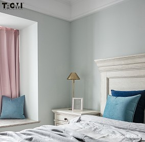平米四居卧室美式欣赏图片大全四居及以上美式经典家装装修案例效果图