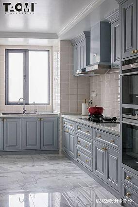 2018四居厨房美式装修欣赏图片四居及以上美式经典家装装修案例效果图