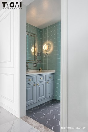 精美面积139平美式四居卫生间装修图片四居及以上美式经典家装装修案例效果图