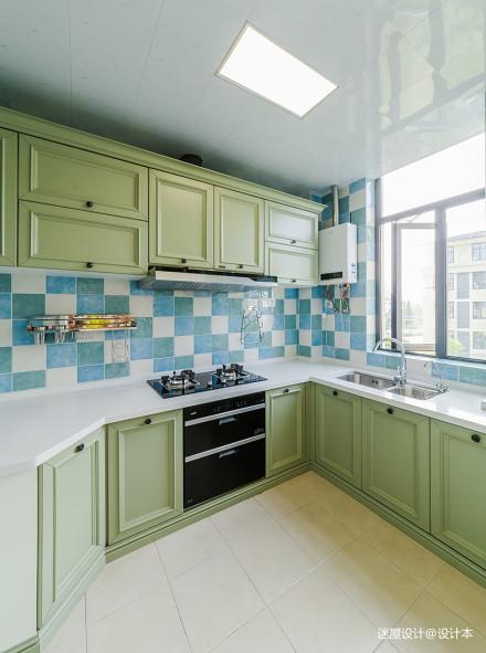 悠雅96平美式三居厨房设计案例餐厅