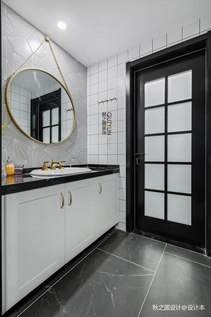 平米三居卫生间混搭装修效果图片欣赏卫生间