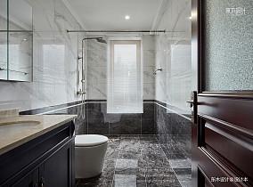 热门133平米中式别墅卫生间装修设计效果图片欣赏