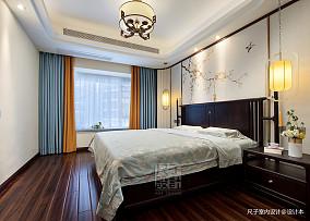 气质新中式卧室设计