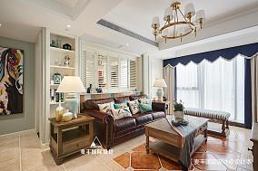 舒适美式三居客厅背景墙设计