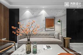 轻奢128平现代三居客厅设计效果图三居现代简约家装装修案例效果图