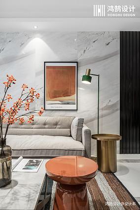 温馨120平现代三居装修设计图三居现代简约家装装修案例效果图