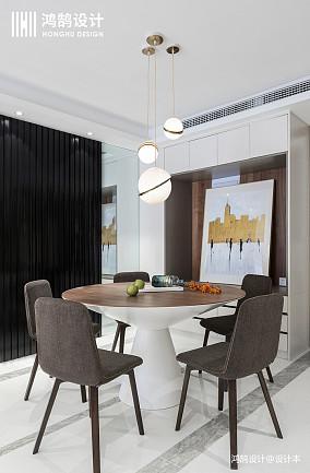精美123平现代三居餐厅实拍图三居现代简约家装装修案例效果图