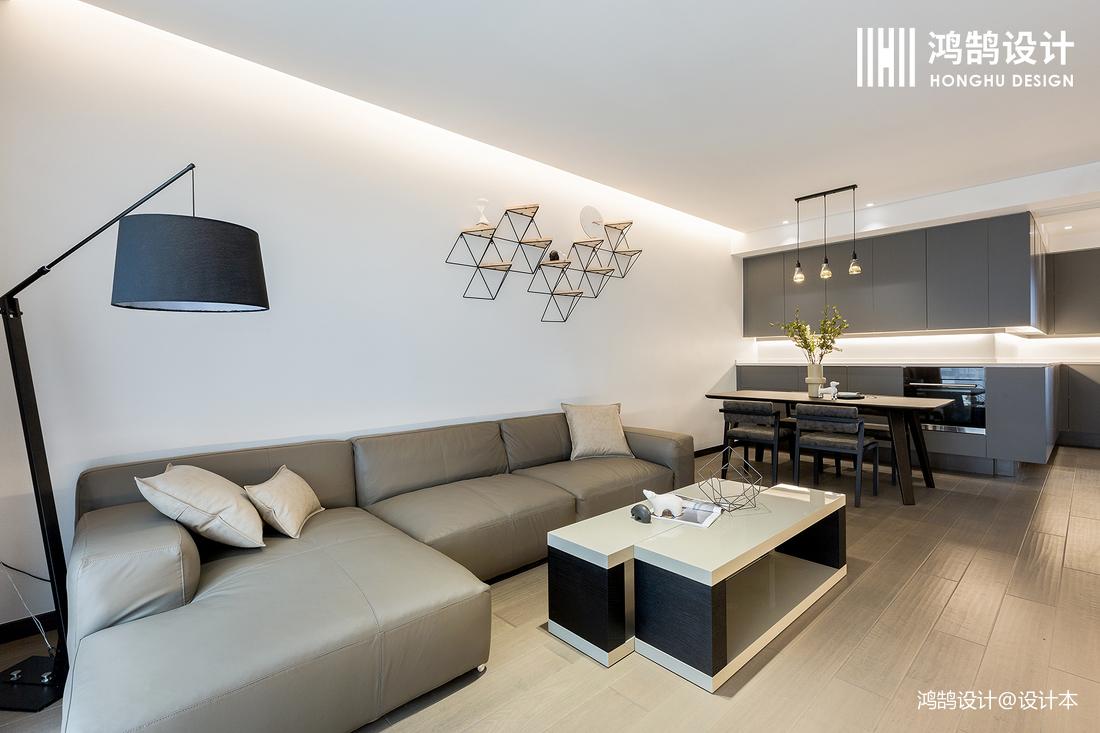优美88平简约二居实景图客厅现代简约客厅设计图片赏析