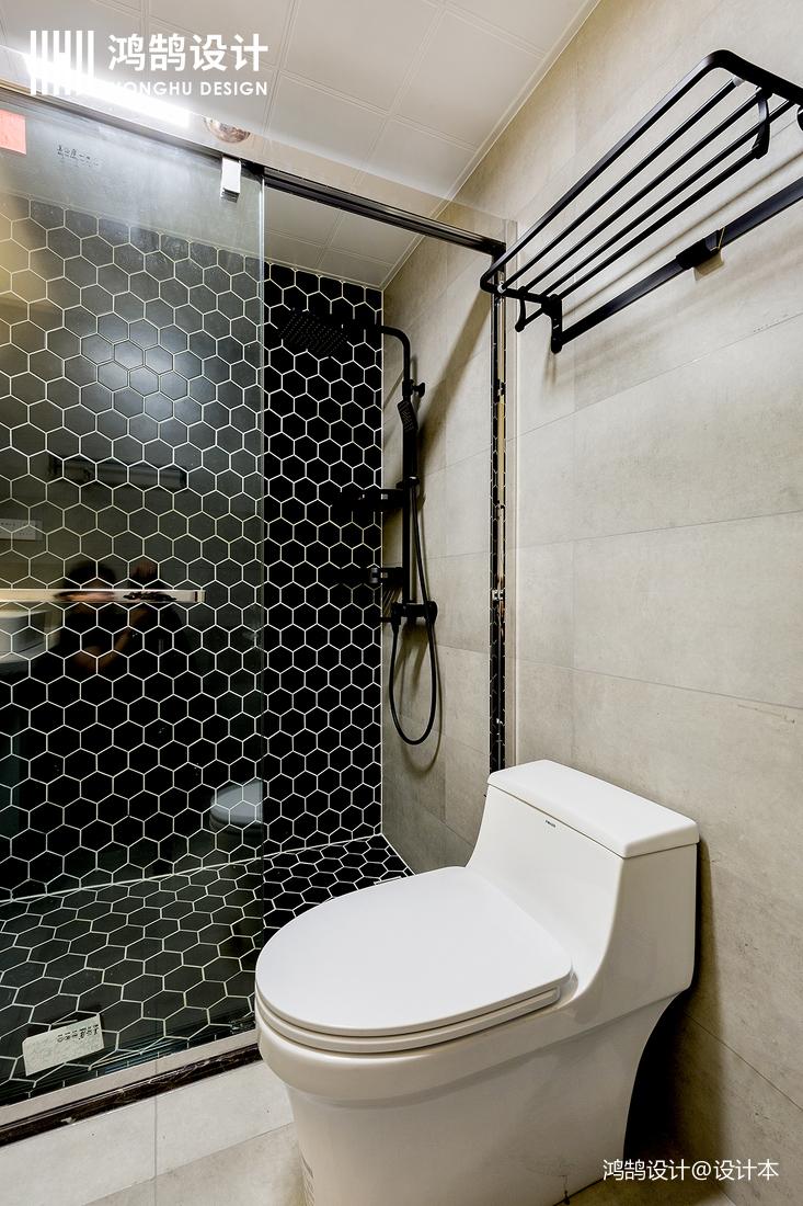 质朴57平简约二居效果图卫生间现代简约卫生间设计图片赏析