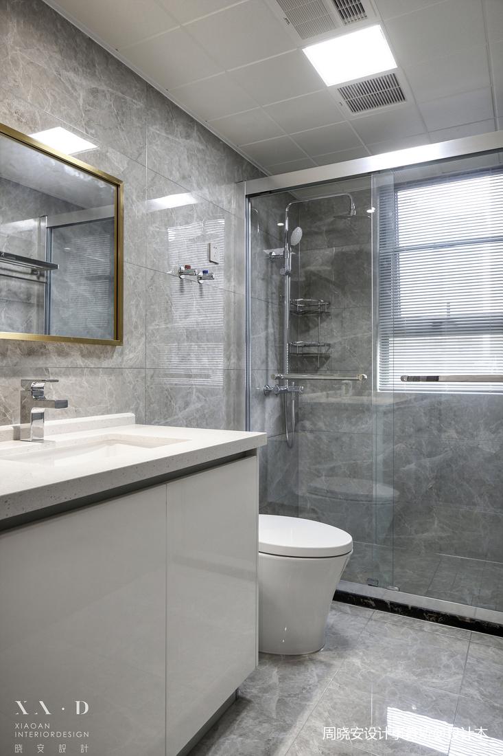 轻奢91平混搭四居卫生间装修装饰图卫生间马桶潮流混搭卫生间设计图片赏析