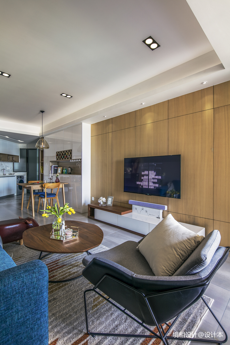 简约风二居客厅电视墙设计客厅现代简约客厅设计图片赏析