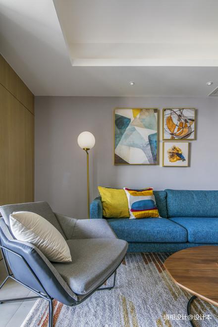大客厅、中西厨、隐形门,79m²简约风竟装出100m²即视感_3325216二居现代简约家装装修案例效果图