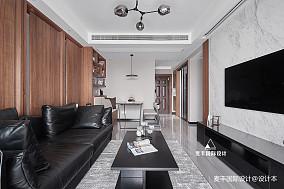 精选面积105平简约三居客厅实景图