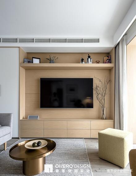 面积74平现代二居客厅实景图片欣赏