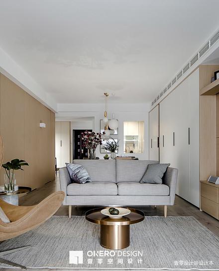 面积70平现代二居客厅效果图片
