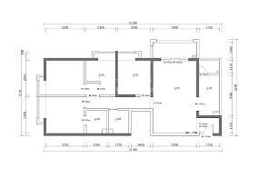 质朴74平北欧二居装修设计图二居北欧极简家装装修案例效果图