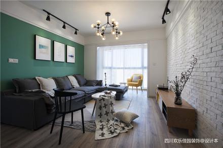 2018二居客厅北欧效果图二居北欧极简家装装修案例效果图
