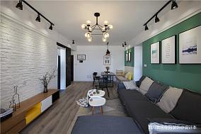 平米二居客厅北欧装饰图片欣赏二居北欧极简家装装修案例效果图