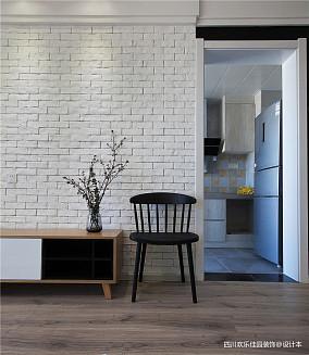 精美79平米二居客厅北欧装修效果图二居北欧极简家装装修案例效果图