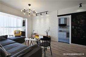 2018面积75平北欧二居客厅装修效果图二居北欧极简家装装修案例效果图