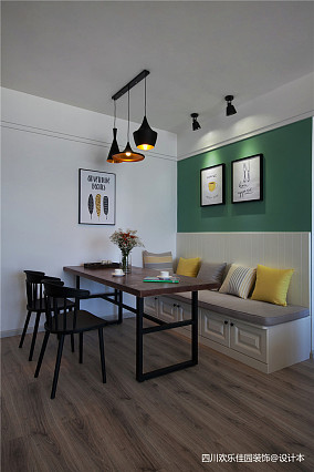 精选北欧二居餐厅装修实景图片大全二居北欧极简家装装修案例效果图