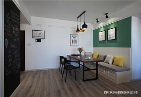 热门面积75平北欧二居餐厅装修设计效果图二居北欧极简家装装修案例效果图