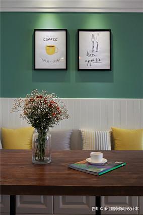 热门北欧二居餐厅效果图二居北欧极简家装装修案例效果图
