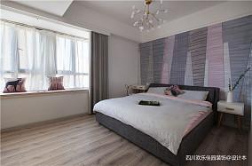 时尚北欧二居卧室设计二居北欧极简家装装修案例效果图