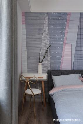 2018精选面积71平北欧二居卧室效果图片二居北欧极简家装装修案例效果图