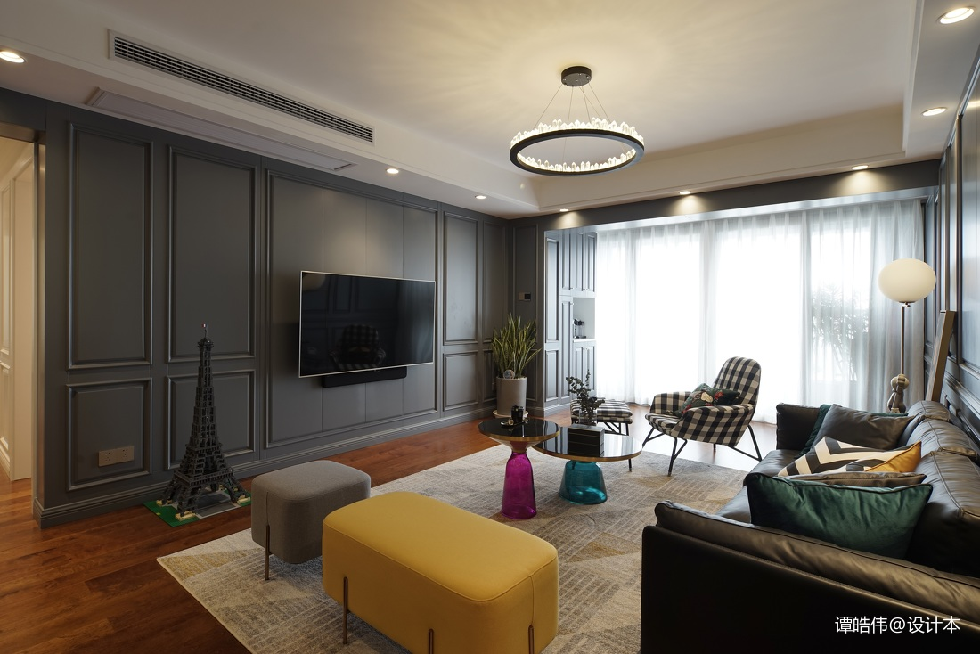 2018精选94平米三居客厅现代装修效果图客厅