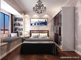 温馨78平新古典二居卧室实景图片81-100m²二居美式经典家装装修案例效果图