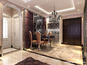 精美90平米二居餐厅新古典装修实景图81-100m²二居美式经典家装装修案例效果图