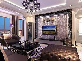 优雅58平新古典二居装潢图81-100m²二居美式经典家装装修案例效果图