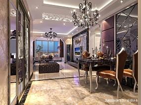 精选面积73平新古典二居客厅装修效果图片欣赏81-100m²二居美式经典家装装修案例效果图