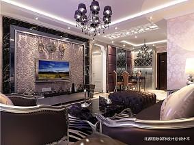 精美88平米二居客厅新古典欣赏图81-100m²二居美式经典家装装修案例效果图