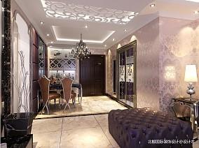 2018新古典二居餐厅装饰图片欣赏81-100m²二居美式经典家装装修案例效果图