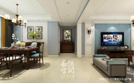 热门面积108平美式三居客厅欣赏图客厅