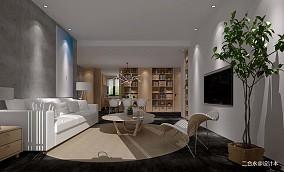 2018精选面积105平中式三居客厅装修欣赏图